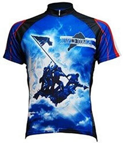 Primal Wear Herren Radtrikot Iwo Jima Tribute, Herren, blau, Small