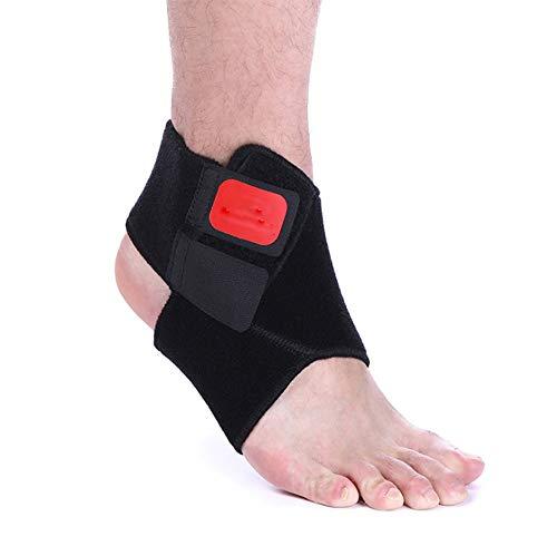N/A QJYAS - Tobillera ajustable y transpirable, elástica, antiesguinces, tobillera de compresión para deportes, baloncesto, fútbol