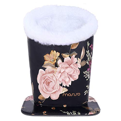 Plush Lined PU Leather Pattern Stand Case with Magnetic Base MOSISO Eyeglasses Holder Daisy