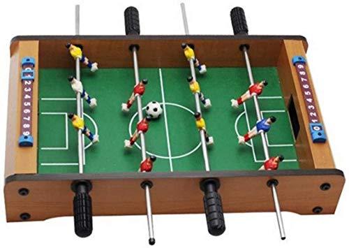 JWCN Indoor Mini Fußballtische Fußball Brettspiel Eltern-Kind Interaktionsspielzeug Holz Vier Pole Mini Tischfußball Uptodate