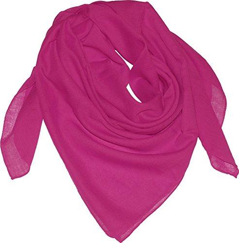 Harrys-Collection Damen Herren Baumwolltuch in vielen Farben 100 x 100 cm, Farben:magenta, Größen:Einheitsgröße