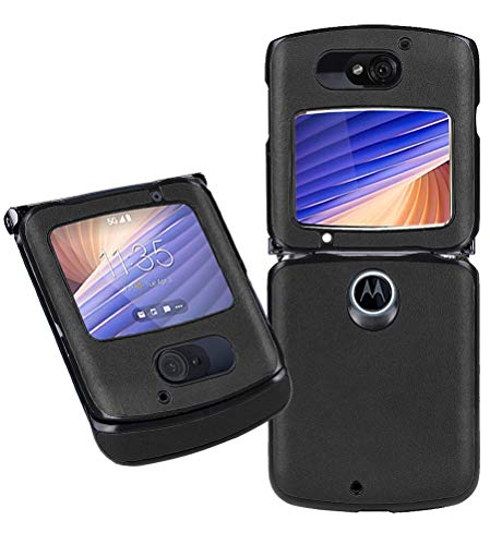 MOONCASE Hülle für Motorola Razr 5G, Leder Flip Handyhülle Slim Fit Stoßfeste Schutzhülle für Motorola Razr 5G 6.2