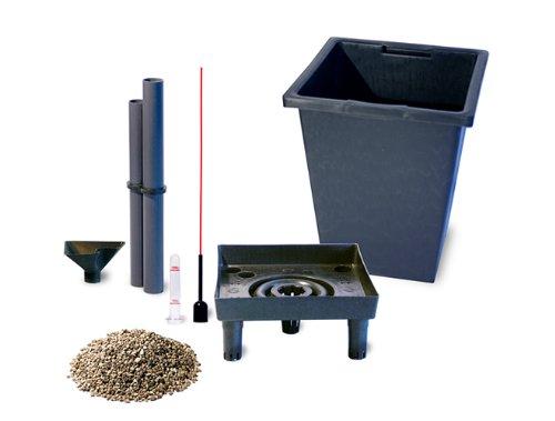 Gartenfreude Bloempot Invoegen 32,5 x 32,5 x 32,5 cm met Watering Systeem en Waterniveau Indicator 24 x 24 x 24.5 cm Zwart