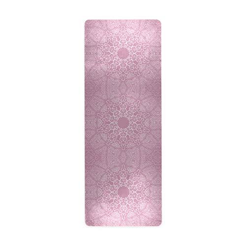Alaza rutschfeste Yogamatte, Vintage-Mandalas-Muster, dicke Yogamatte, Öko-Gummi, für Kinder, Spielmatte, Zuhause, faltbar, für Frauen