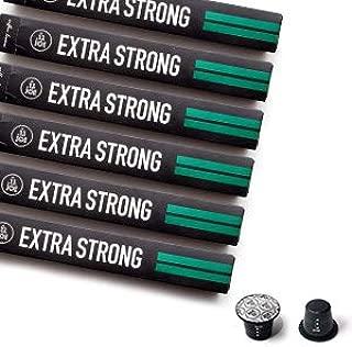 Nespresso Compatible Capsules - Espresso Pods for your Nespresso Machine - EXTRA STRONG, Nespresso Original Coffee Pods, 10-Count Sleeves, (60 Capsules)