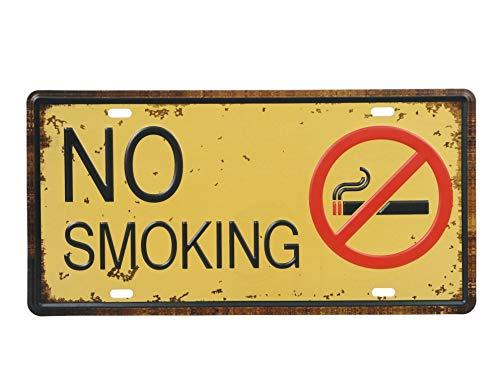 (オールドボーイ) Old-boy ブリキ看板 No Smoking ノースモーキング 禁煙 レトロ (Type 2)