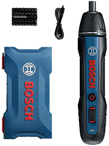 Bosch Go 3,6V Smart Cordless Screwdriver,Akkuschrauber PushDrive Elektroschrauber Schraubendreher Set (2 Generation, Schwarz, integrierter Akku mit Mikro-USB-Lader,33 Bits, Aufbewahrungsbox)