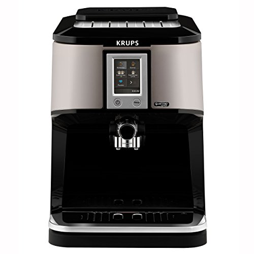 Krups EA880E Kaffeevollautomat One-Touch-Cappuccino, Two-in-One Touch Funktion, TFT-Farbdisplay mit Touchscreen, 1,7 L, 15 bar, silber/schwarz