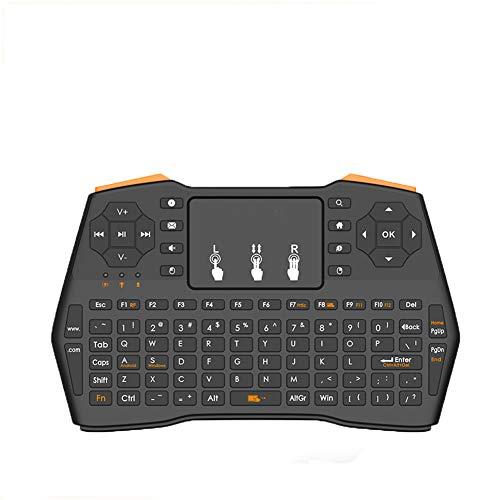 Toetsenbord, klein toetsenbord, draadloos mini-toetsenbord 2.4G Russisch of Engels of Spanje Air Mouse afstandsbediening Touchpad voor Tv Box Tablet Pc