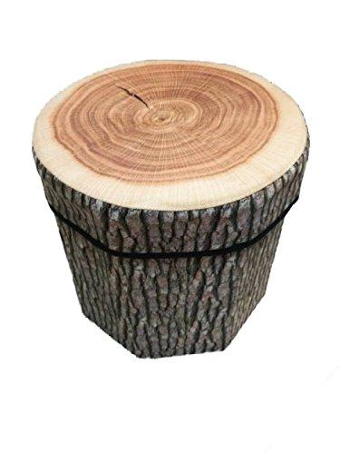 Kenmont - Originale pouf contenitore, pieghevole, 31 x 30 x 7 cm, capacità di carico massimo 150 kg. Contenitore generico o portabiancheria, multicolore tree stump laundry basket