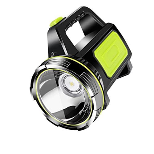 ibasenice Reflector LED Linterna Recargable Portátil Reflector Portátil Linterna Impermeable con Sidelamp para Viajes de Senderismo Aire Libre