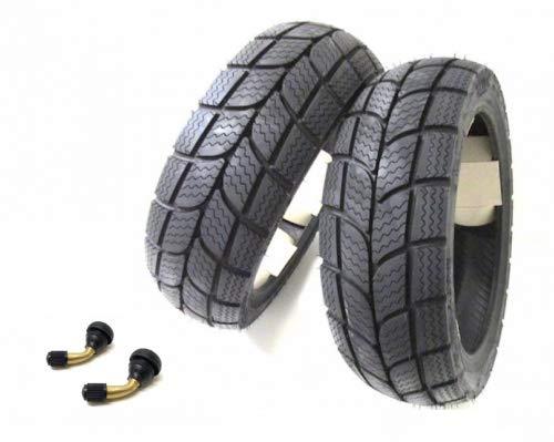 KENDA Winter Reifen Winterreifen Set Satz für Roller/Scooter inkl. Ventile (120/70-12 + 130/70-12) M+S
