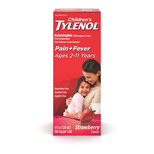 Children's Tylenol Very Berry Strawberry Flavor, 4-Ounce (Pack of 2)