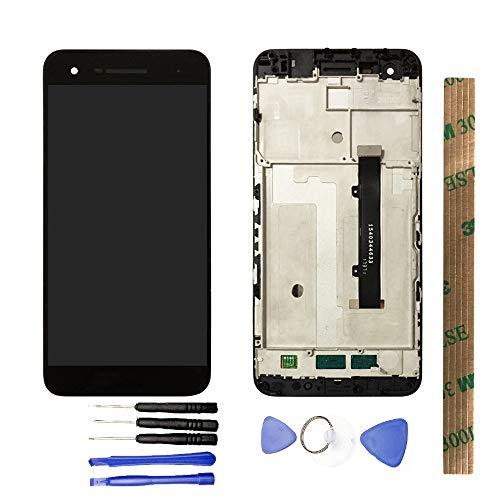 JayTong - visualización LCD y digitalizador de visualización táctil de Repuesto para Vodafone Smart V8 VFD710 VFD 710 Negro con Marco