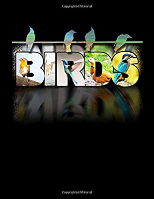 """BIRDS BLACK NOTEBOOK: Ornithology Wildlife Birdwatching Bullet Dot Grid Graphing Pad Dotted Notebook for Math & Science Students 