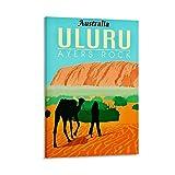 ERTYM Vintage-Reise-Poster, Uluru-Poster, dekoratives