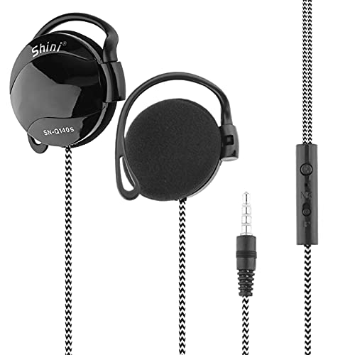 SN-Q140S 3.5mm Wired Headsets Sport Headphone Ear-Hook Headset Line Control Volume Earphone with Mic for Phone