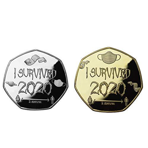 MAWOLY Gold & Silber 2020 Survivors Gedenkmünze Doppelseitige Gedenkmünze 2PC-AT33