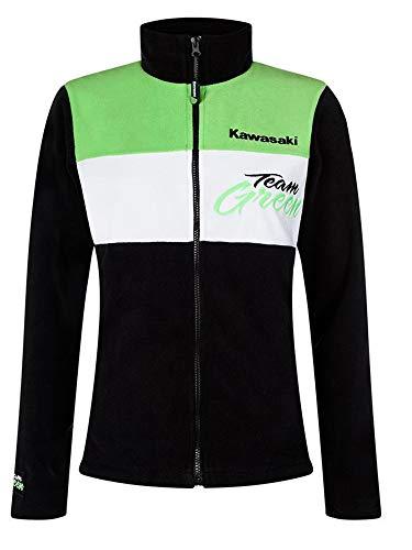 Kawasaki Team Green Fleece Jacke schwarz grün weiß (XS/S)