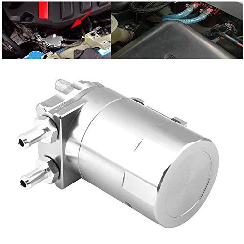 Respiradero del tanque de la captura del aceite del tanque del respiradero de aceite del reemplazo de la manguera para el coche(Silver)
