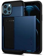 Spigen Slim Armor CS hoesje Compatibel met iPhone 12 en Compatibel met iPhone 12 Pro -Navy Blue