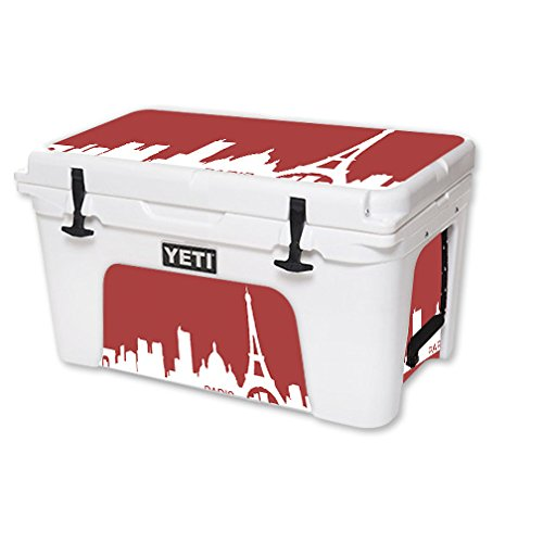 MightySkins (Cooler Not Included) Skin Compatible with YETI Tundra 45 qt Cooler – Paris | Protective, Durable, and Unique Vinyl Decal wrap Cover | Easy to Apply | Made in The USA