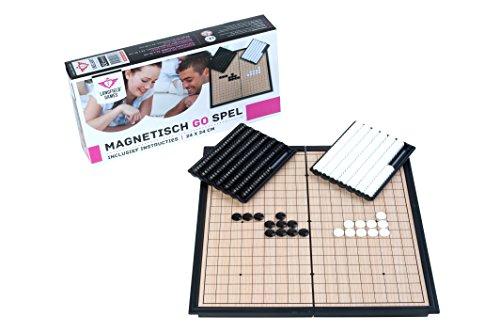 Engelhart- 250412 - Go Spiel Magnetisch , 24 cm x 24 cm - Reise Kompaktspiele - Klappbrettspiel - Japanische magnetische Brettspiele