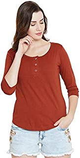 The Dry State Women's Slim Fit T-Shirt (G235D2_Red_Medium)