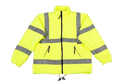 Warrior werkkleding Hi-Vis Hudson fleece jas, maat, Small, Geel, 1