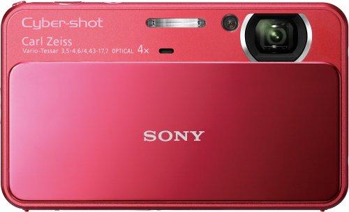 Sony DSC-T110 - Cámara Digital Compacta, 16.1 MP (3 pulgadas, 4x Zoom óptico) - Rojo