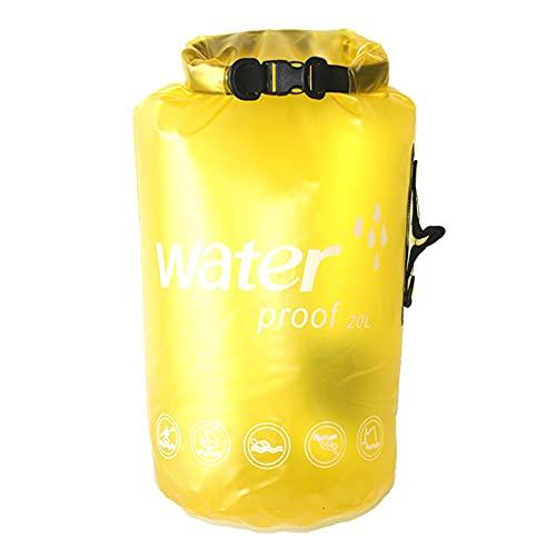 Peyan Bolsa seca impermeable de PVC – Mochila translúcida ultraligera impermeable con correa ajustable para el hombro para natación al aire libre, rafting, kayak, barco flotante (10L/20L)