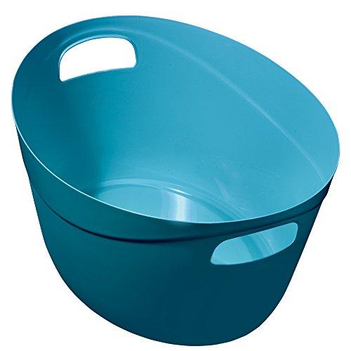 Great Plastic Multiuso Cestino Ovale, Blu, Confezione da 12