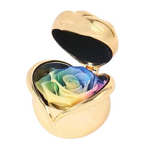 Homyl Fleur de Rose Éternelle Cadeau de Saint-Valentin - Multicolore-or