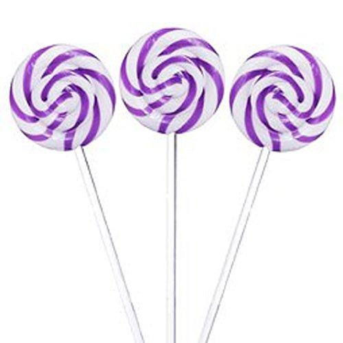 Bright Purple Swirl Pops