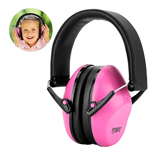 FITNATE 防音イヤーマフ 遮音値NRR26, SNR29 耳当てプロテクター フリーサイズ 折りたたみ型 子供用(推奨年齢3歳以上 ) 学生用 睡眠 勉強 自閉症 聴覚過敏 騒音など様々な用途に (ピンク)