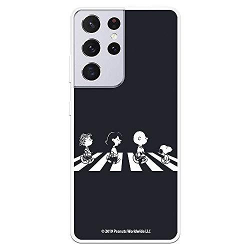 Funda para Samsung Galaxy S21 Ultra Oficial de Snoopy Personajes Beatles. Protege tu móvil con la Carcasa para Samsung de Silicona Oficial de Peanuts.