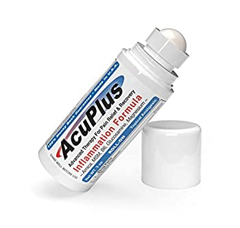 AcuPlus Pain Relief Roll-on - Advanced Fast Acting Long Lasting & Powerful Topical Pain Relief from Bursitis Arthritis Tendonitis Joint Pain Knee Pain Back Pain and Muscle Ache  3 Onces