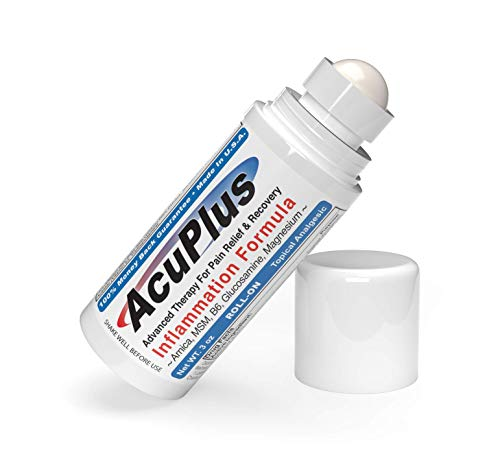 AcuPlus Pain Relief Roll-on - Advanced Fast Acting, Long Lasting & Powerful Topical Pain Relief from Bursitis, Arthritis, Tendonitis, Joint Pain, Knee Pain, Back Pain and Muscle Ache (3 Onces)