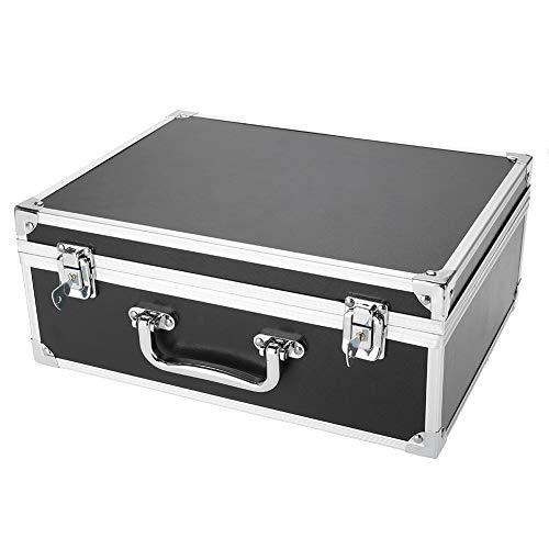 Boîte de rangement pour tatouage Boîte de rangement pour machine à tatouer en aluminium 2 couleurs Boîte de transport Boîte de rangement vide pour organisateur(noir)