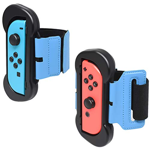 Fyoung Wrist Dance Band for Nintendo Switch Joy Cons Controller Game Just Dance 2021/2020/ 2019, Adjustable Elastic Strap for Joy-Cons, 2 Pack (Fit for 4.72-7.5 inches Wrist)