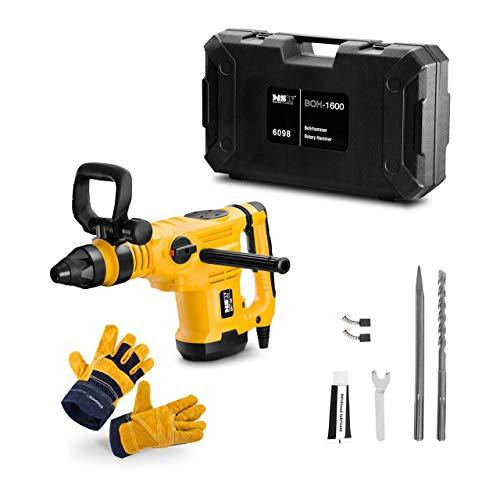 MSW Bohrhammer SDS Max BOH-1600-SET Bohrmaschine 1600 W 2300 S/min 330 U/min + Arbeitshandschuhe 10/XL