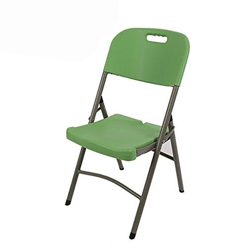 Chaises pliantes Chaises pliantes extérieures Chaises de loisirs Chaises de formation Chaises de conférence Chaises de plancher (Couleur : Vert)