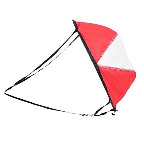 DAUERHAFT Vela de Viento Plegable de tafetán de poliéster Resistente y fácil de Montar, para Kayak(Red, Kayak Sailing Sail)