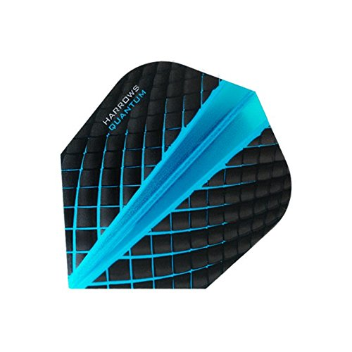 Harrows Quantum Dart-Flights, 3D-Effekt, 100 Mikron, Standardform, Aqua, 5 Sets (15)