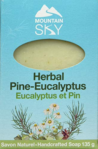 Mountain Sky Soaps – Canadian Herbal Pine Eucalyptus Bar Soap, 135 Grams