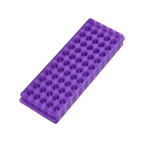 Sourcingmap - Porta provette in polipropilene a doppio pannello, 60 pozzi, per tubi di centrifuga da 0,5 ml, 1,5 ml, 2 ml, colore: viola
