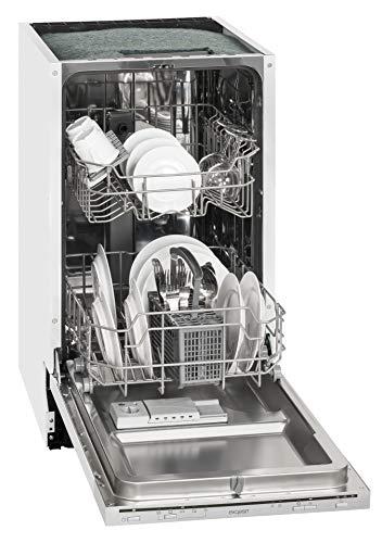 Exquisit Einbau-Geschirrspüler EGSP 1009 E | Vollintegriert, Einbaugerät | 9 Maßgedecke | Weiß
