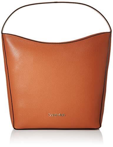 Calvin Klein Neat Hobo Md - Borse a spalla Donna, Marrone (Cuoio),...