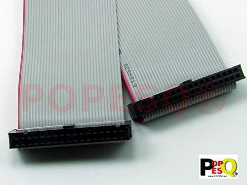 POPESQ® - IDC Kabel/Cable 34 polig (2X 17) cca. 20 cm / 0.2 m lang/Long, Flachbandkabel Ribbon #A1327
