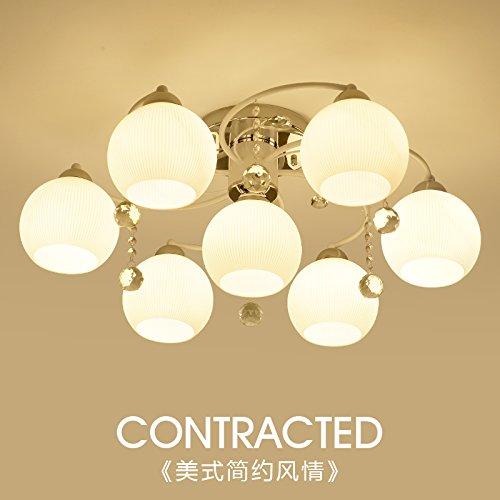 NASEN americana rurale lampada da soffitto moderno minimalista soggiorno camera da letto accogliente luce luce ristorante Nordic personalità lampade di cristallo 3+9 W LED Lampe weiß